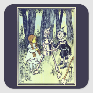 Vintage Wizard of Oz, Dorothy Meets the Tinman Square Sticker