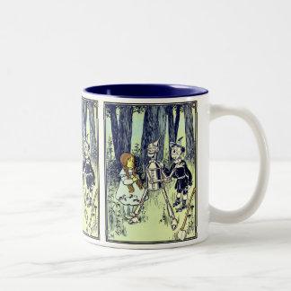 Vintage Wizard of Oz, Dorothy Meets the Tinman Two-Tone Coffee Mug