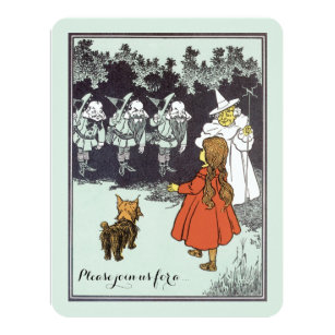 Good witch invitations announcements zazzle vintage wizard of oz dorothy munchkins birthday card bookmarktalkfo Image collections