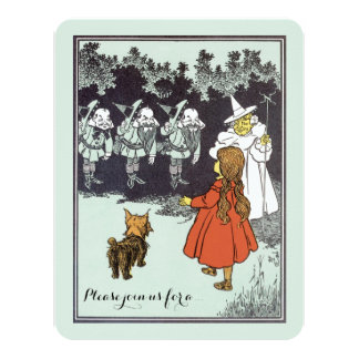 Vintage Wizard of Oz Dorothy Munchkins Birthday Card