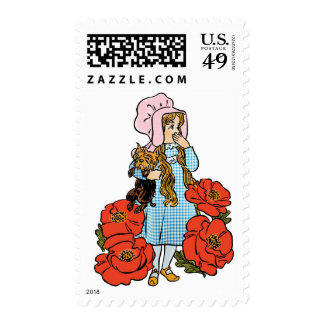 Vintage Wizard of Oz, Dorothy, Red Poppy Flowers Postage