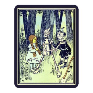 Vintage Wizard of Oz Dorothy Tinman Birthday Party Card
