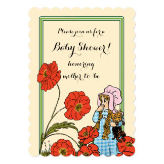 vintage wizard of oz dorothy toto baby shower card