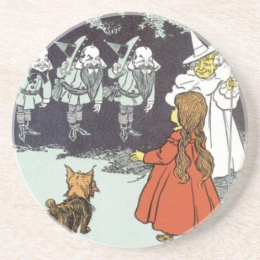 Vintage Wizard of Oz Dorothy Toto Glinda Munchkins Coaster