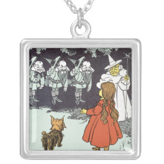 Vintage Wizard of Oz Dorothy Toto Glinda Munchkins Pendant