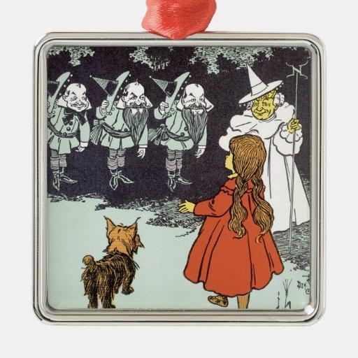 Vintage Wizard of Oz Dorothy Toto Glinda Munchkins Ornaments