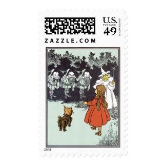 Vintage Wizard of Oz Dorothy Toto Glinda Munchkins Postage Stamp