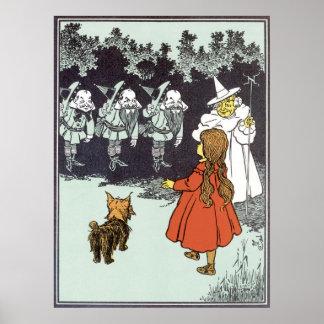 Vintage Wizard of Oz Dorothy Toto Glinda Munchkins Posters