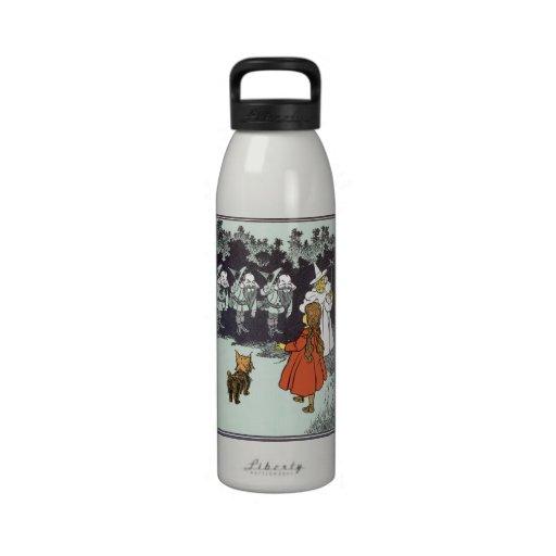 Vintage Wizard of Oz Dorothy Toto Glinda Munchkins Reusable Water Bottles