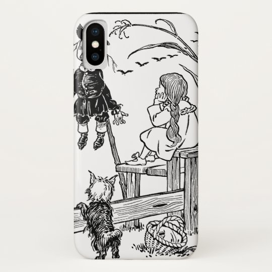 Vintage Wizard of Oz, Dorothy Toto Meet Scarecrow iPhone X Case