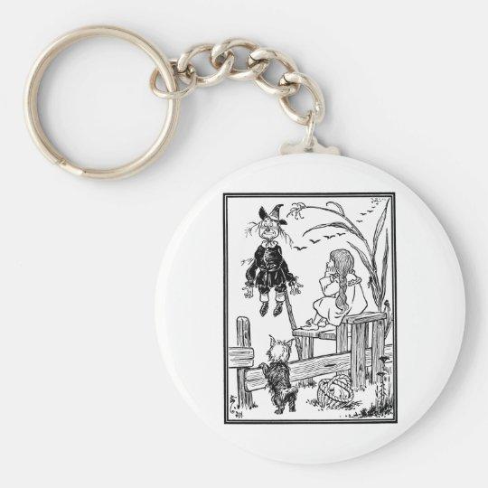 Vintage Wizard of Oz, Dorothy Toto Meet Scarecrow Keychain
