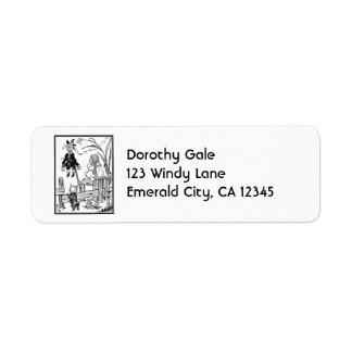 Vintage Wizard of Oz, Dorothy Toto Meet Scarecrow Label