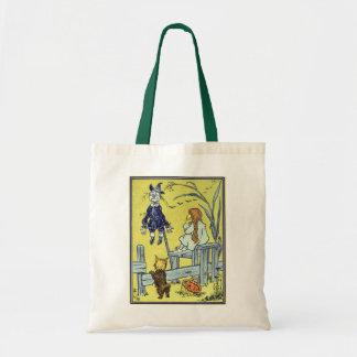 Vintage Wizard of Oz, Dorothy Toto Meet Scarecrow Tote Bag
