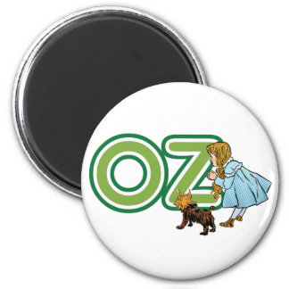 Vintage Wizard of Oz Dorothy Toto with BIG Letters Magnet