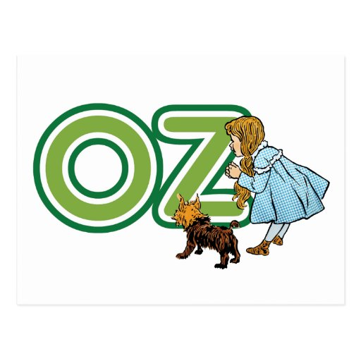 Vintage Wizard of Oz Dorothy Toto with BIG Letters Postcard