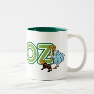 Vintage Wizard of Oz Dorothy Toto with BIG Letters Two-Tone Coffee Mug