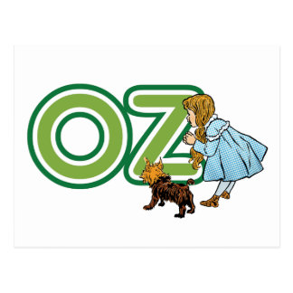 Vintage Wizard of Oz, Dorothy Toto with Letters OZ Postcard