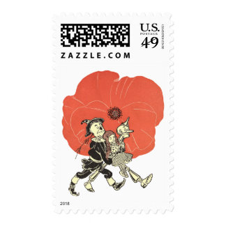 Vintage Wizard of Oz, Dorothy with Poppy Flowers Postage