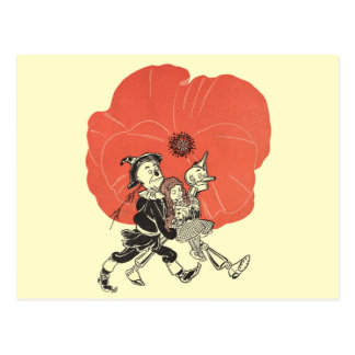 Vintage Wizard of Oz, Dorothy with Poppy Flowers Postcard