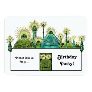 Vintage Wizard of Oz, Emerald City Birthday Party Card