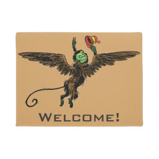 Vintage Wizard of Oz, Evil Flying Monkey Doormat