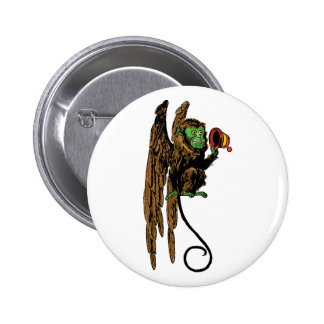 Vintage Wizard of Oz, Evil Flying Monkey Hat 2 Inch Round Button