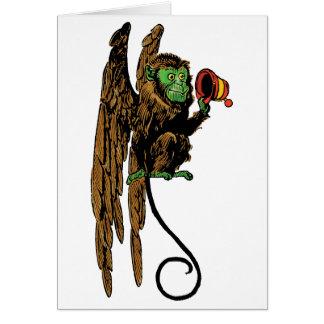 Vintage Wizard of Oz, Evil Flying Monkey Hat Greeting Card