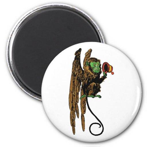 Vintage Wizard of Oz, Evil Flying Monkey Hat 2 Inch Round Magnet