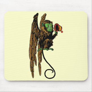 Vintage Wizard of Oz, Evil Flying Monkey Hat Mouse Pad
