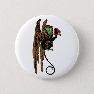 Vintage Wizard of Oz, Evil Flying Monkey Hat Pinback Button