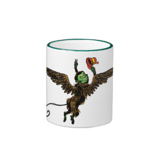 Vintage Wizard of Oz, Evil Flying Monkey Ringer Coffee Mug