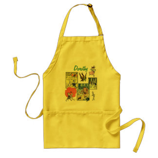 Vintage Wizard of Oz Fairy Tale Book Characters Adult Apron