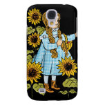 Vintage Wizard of Oz Fairy Tale Dorothy Sunflowers Samsung Galaxy S4 Covers