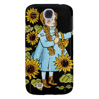 Vintage Wizard of Oz Fairy Tale Dorothy Sunflowers Galaxy S4 Cover