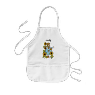 Vintage Wizard of Oz Fairy Tale Dorothy Sunflowers Kids' Apron