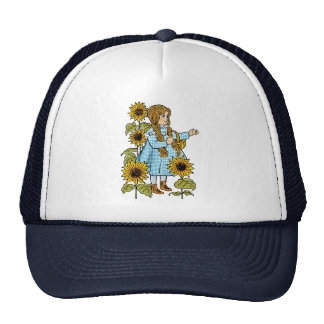 Vintage Wizard of Oz Fairy Tale Dorothy Sunflowers Trucker Hat