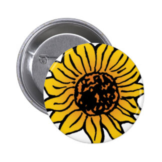 Vintage Wizard of Oz Fairy Tale Sunflower in Bloom Pinback Buttons
