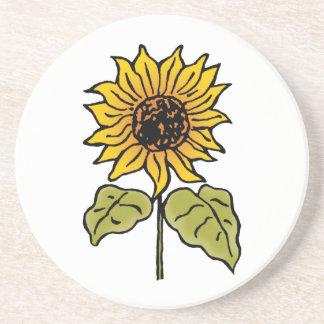 Vintage Wizard of Oz Fairy Tale Sunflower in Bloom Coaster