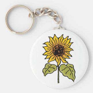 Vintage Wizard of Oz Fairy Tale Sunflower in Bloom Keychain