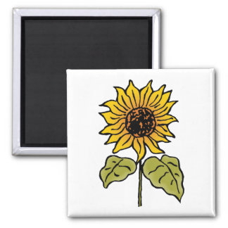 Vintage Wizard of Oz Fairy Tale Sunflower in Bloom Magnet