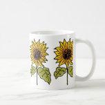 Vintage Wizard of Oz Fairy Tale Sunflower in Bloom Mugs