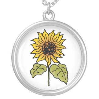 Vintage Wizard of Oz Fairy Tale Sunflower in Bloom Custom Necklace