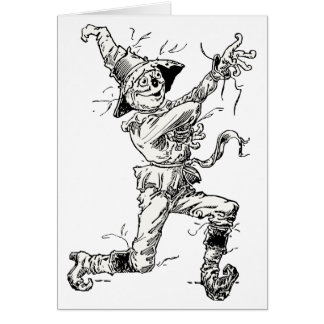 Vintage Wizard of Oz Fairy Tales, the Scarecrow Card