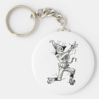 Vintage Wizard of Oz Fairy Tales, the Scarecrow Keychain