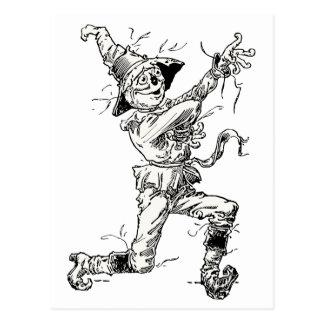Vintage Wizard of Oz Fairy Tales, the Scarecrow Postcard