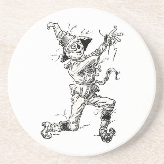 Vintage Wizard of Oz Fairy Tales, the Scarecrow Sandstone Coaster