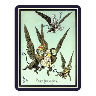 Vintage Wizard of Oz. Flying Monkey Birthday Party Card