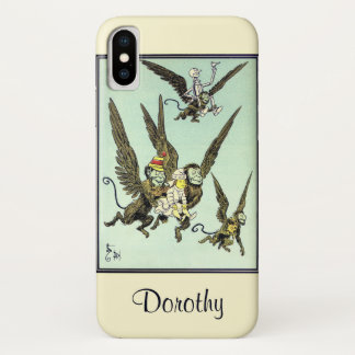 Vintage Wizard of Oz, Flying Monkeys with Dorothy iPhone X Case
