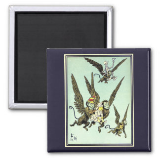 Vintage Wizard of Oz, Flying Monkeys with Dorothy Magnet