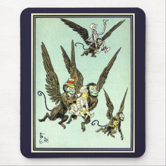 Vintage Wizard of Oz, Flying Monkeys with Dorothy Mouse Pad